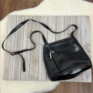 Longchamp Roseau Black Leather Shoulder Bag